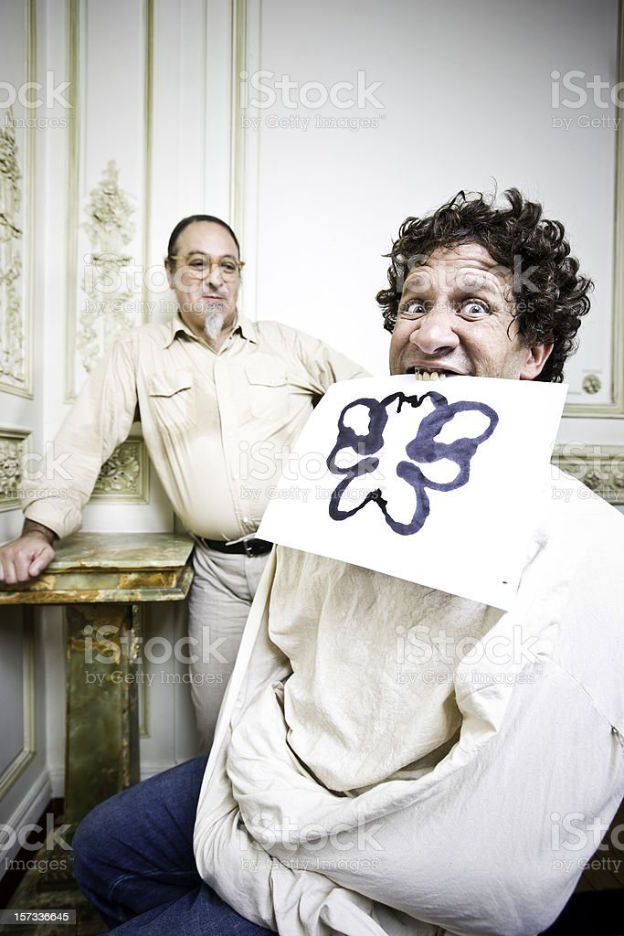Crazy Rorschach Test royalty-free stock photo