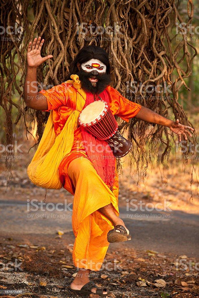 Crazy Sadhu in India royalty-free stock photo