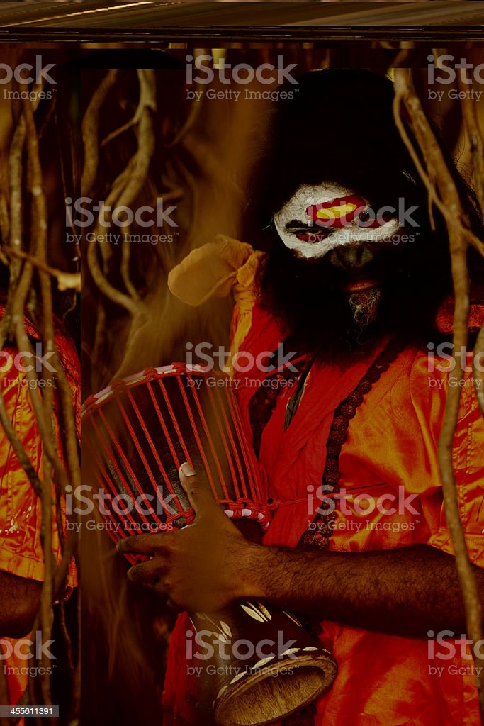 Crazy Sadhu in India royalty-free stock photo