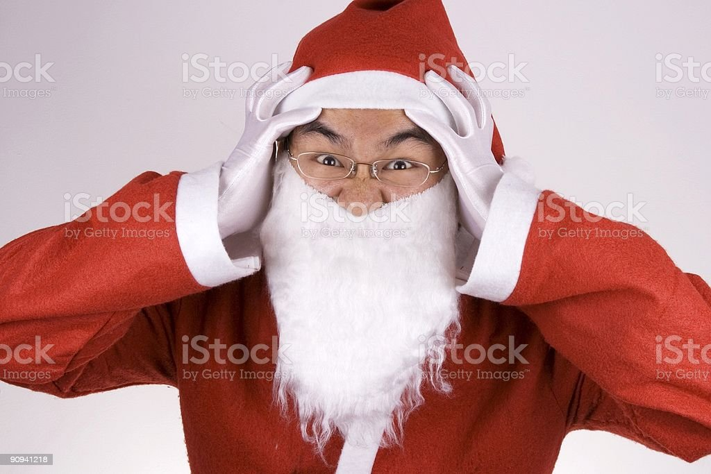 Crazy Santa Claus royalty-free stock photo