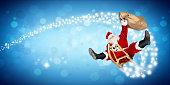 crazy santa claus sleigh funny crazy christmas gift  delivery