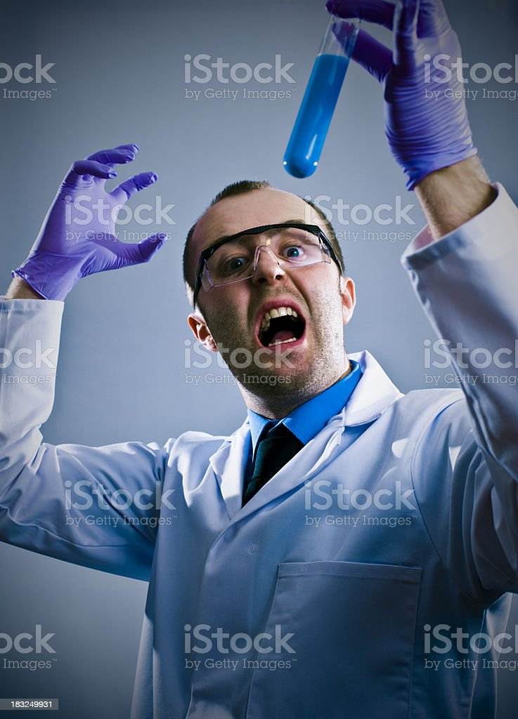 Crazy Scientist Guy stock photo