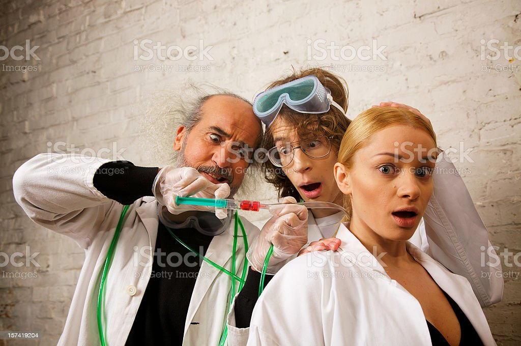 Crazy Scientist royalty-free stock photo