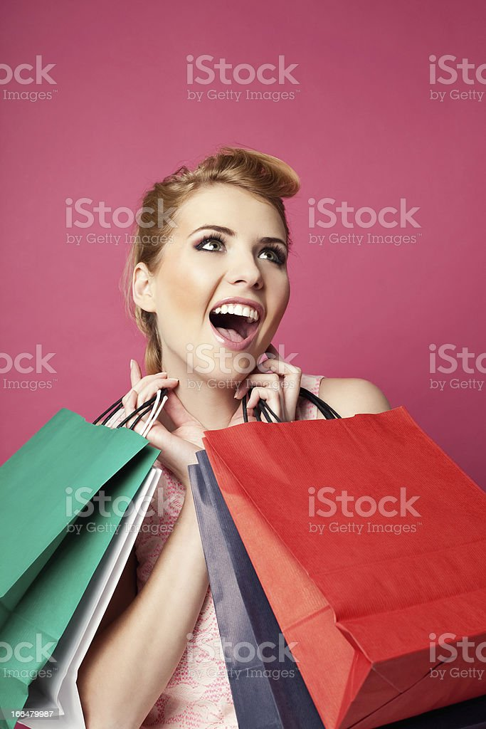 Crazy shopping royalty-free stock photo