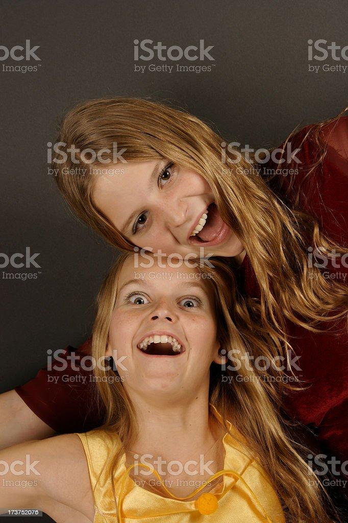 Crazy Sisters stock photo