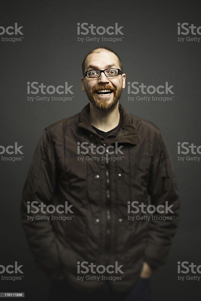 Crazy smile royalty-free stock photo