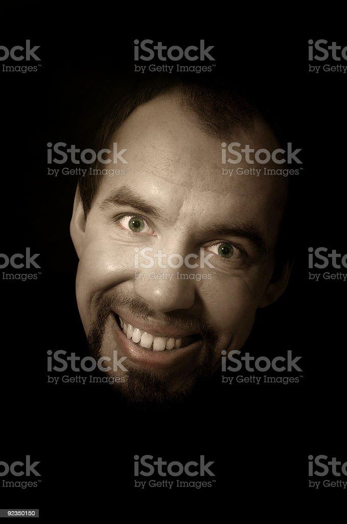 crazy smile stock photo
