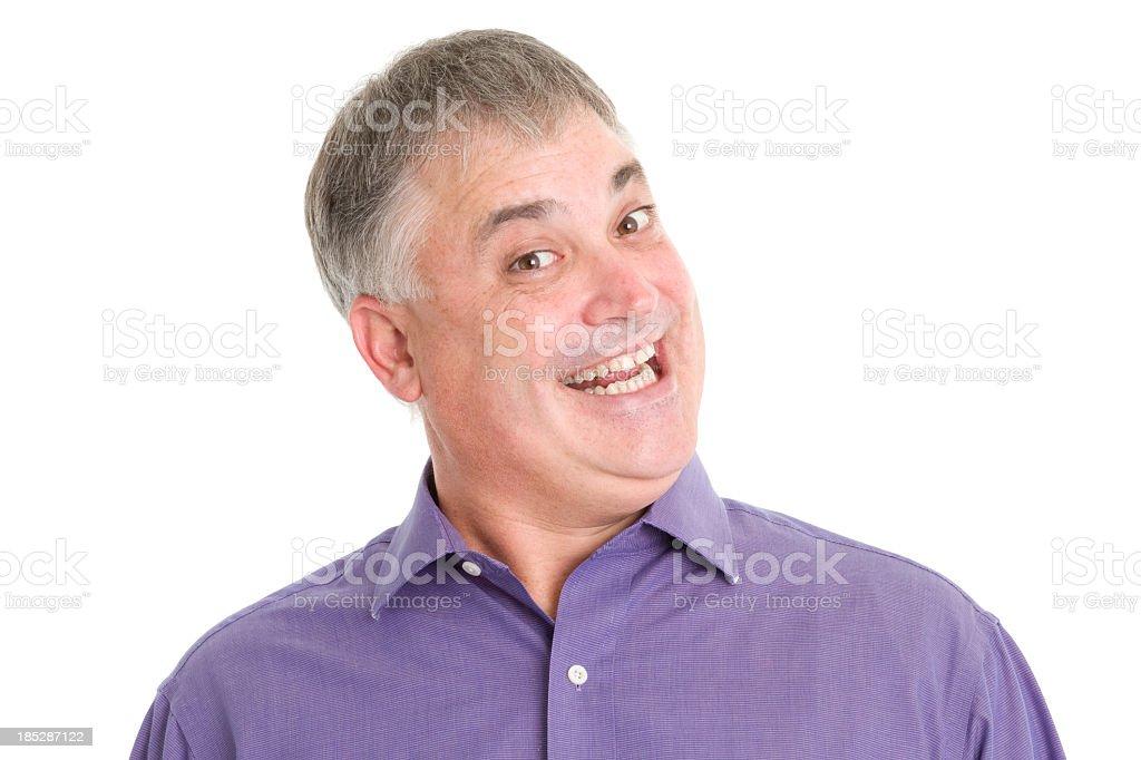 Crazy Smiling Man stock photo