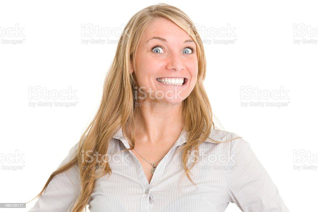 Crazy Smiling Woman stock photo