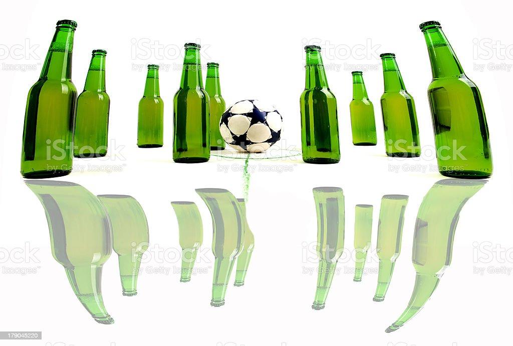 Crazy soccer royalty-free stock photo
