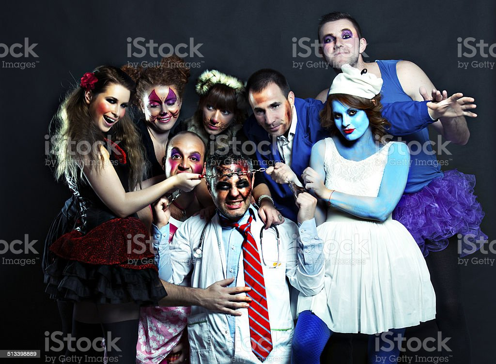 crazy togetherness stock photo