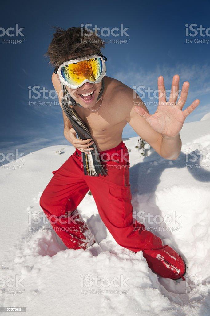 Crazy Winter Fun (XXXL) royalty-free stock photo