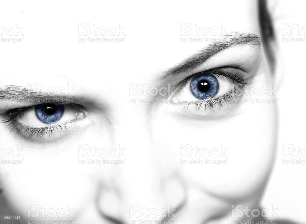 Crazy woman eye royalty-free stock photo