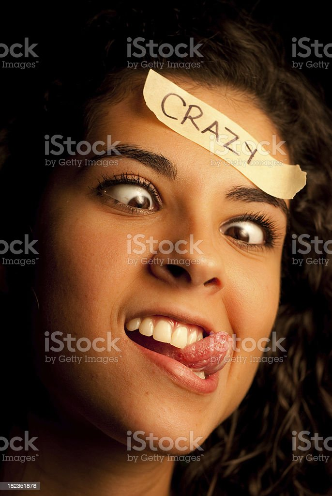 Crazy Woman royalty-free stock photo