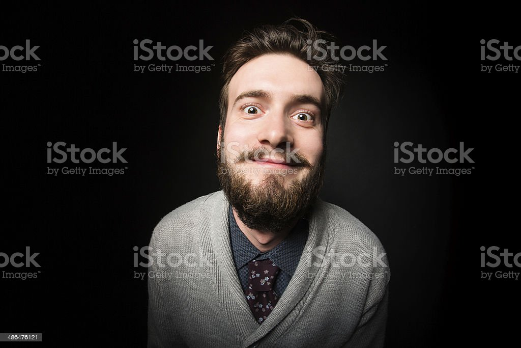Crazy young male royalty-free stock photo
