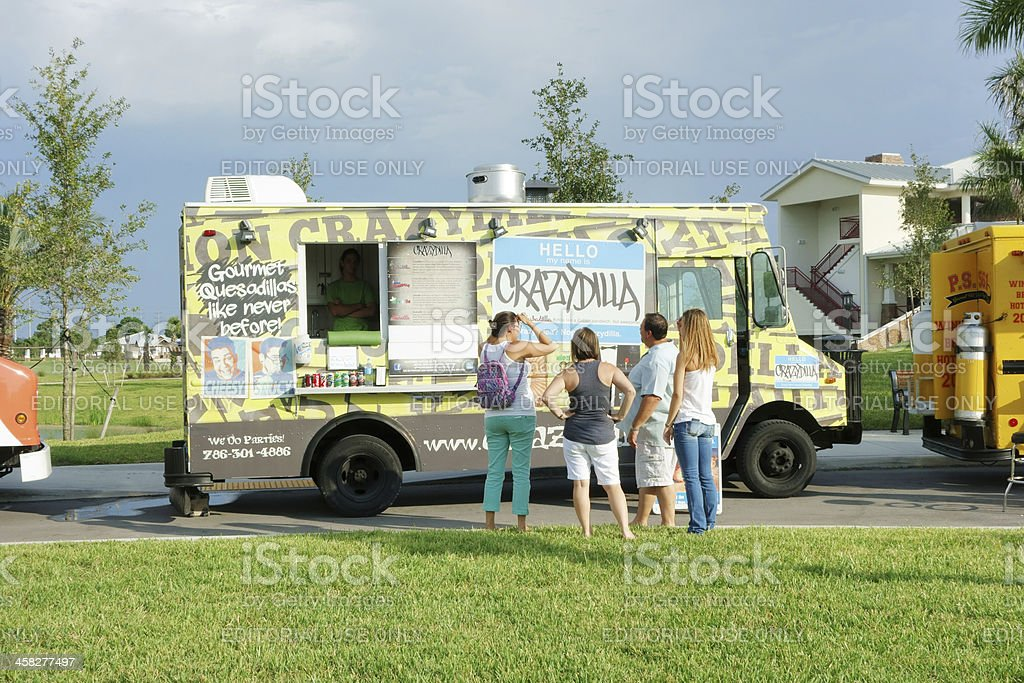 Crazydilla food truck royalty-free stock photo