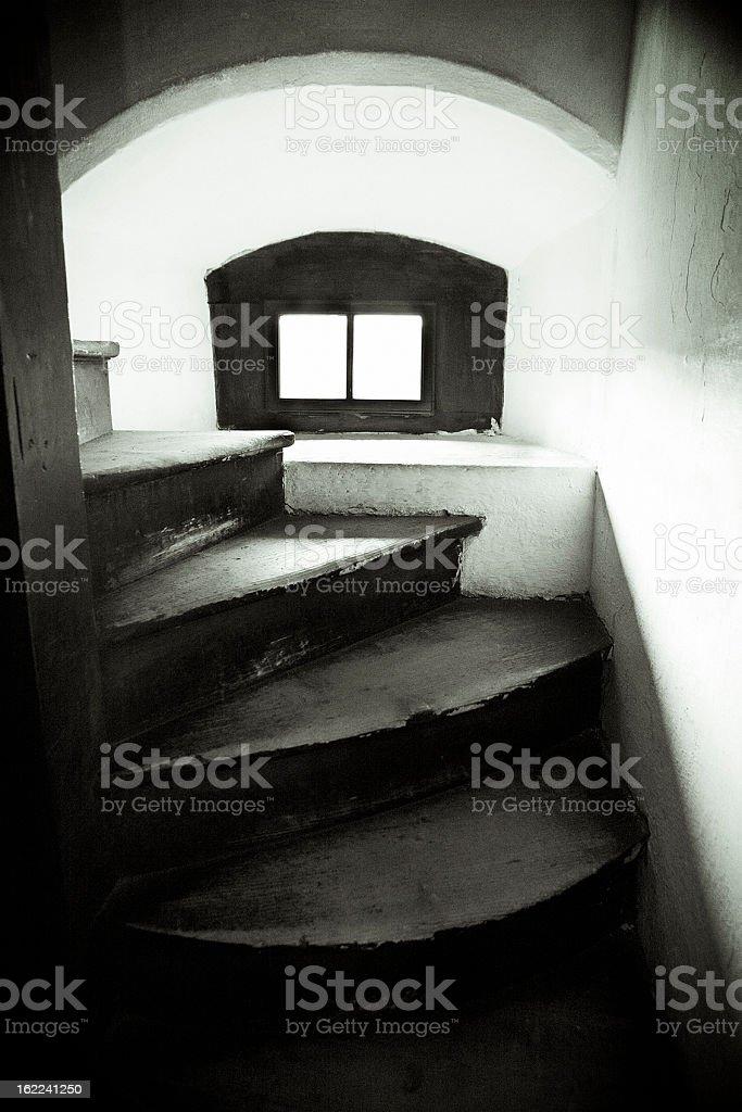 creaky stairs stock photo