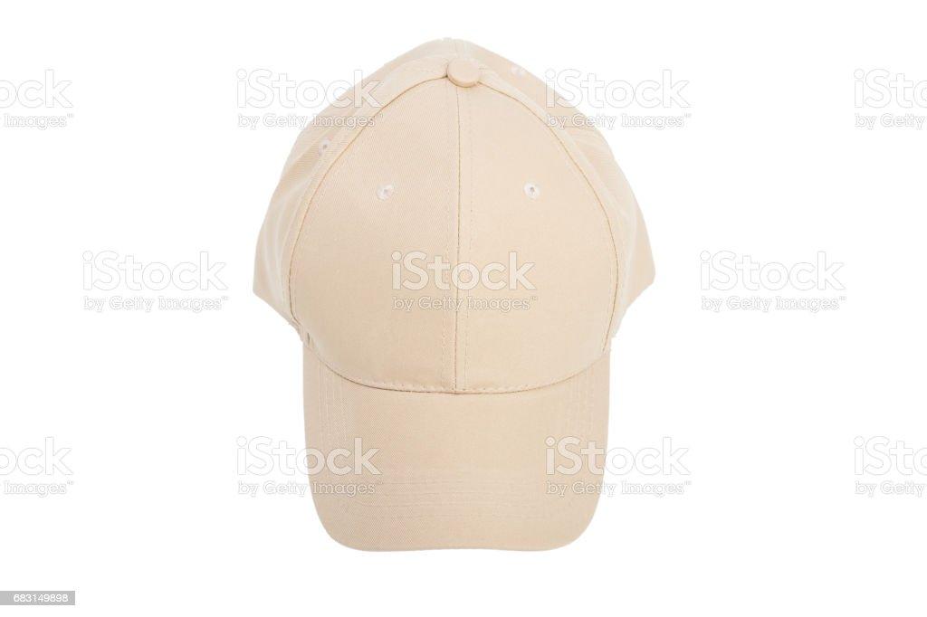 Cream Baseball Hat Isolated stock photo