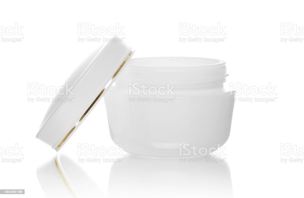 Cream box stock photo