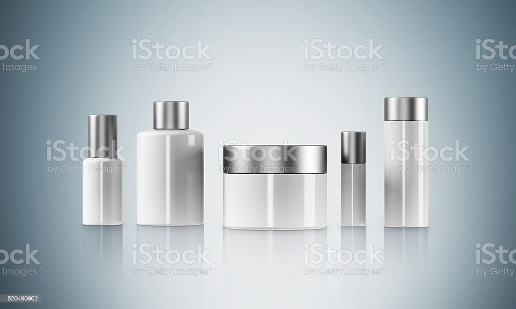 Cream boxes stock photo