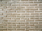 Cream brick wall