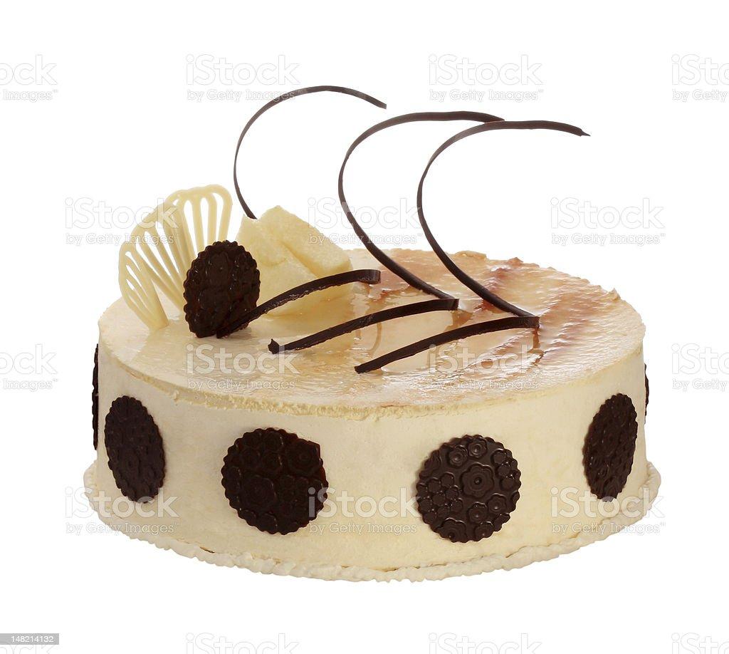 Cream cake with chocolate royalty-free stock photo