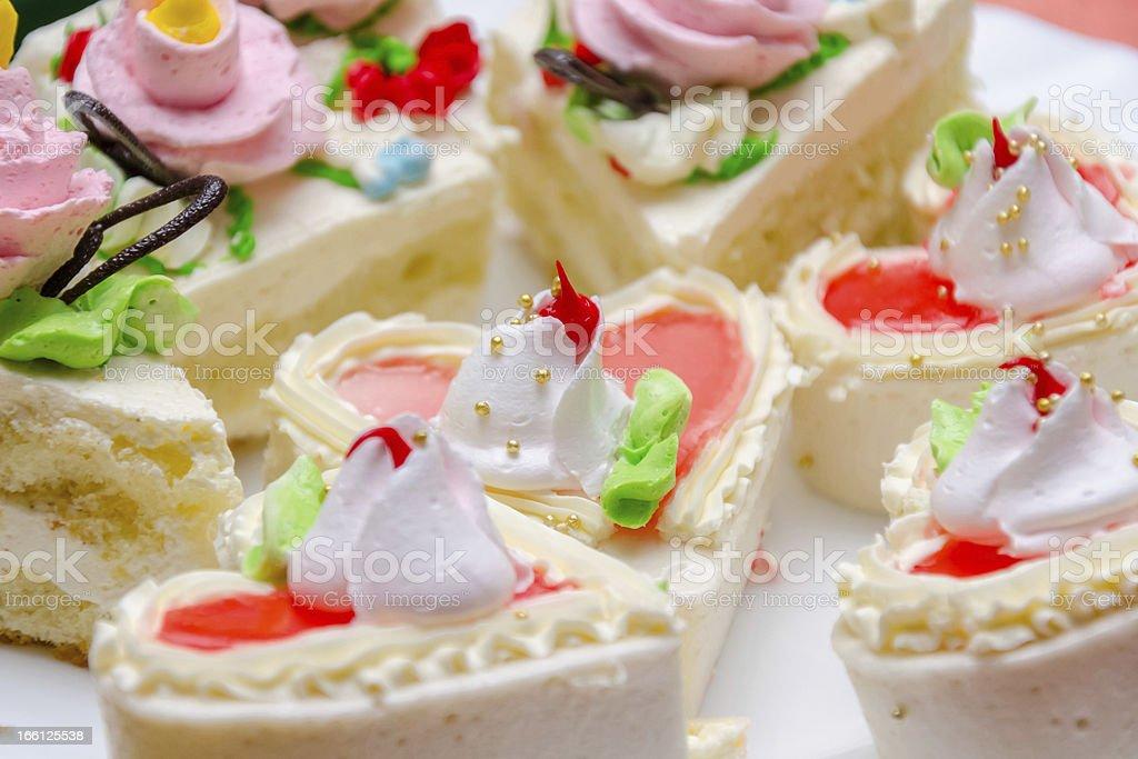 cream cakes royalty-free stock photo
