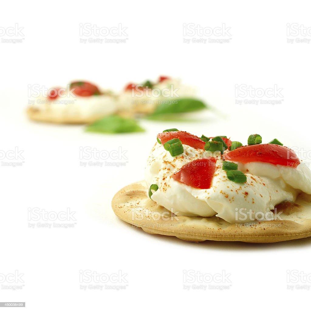 Cream Cheese Canape stock photo