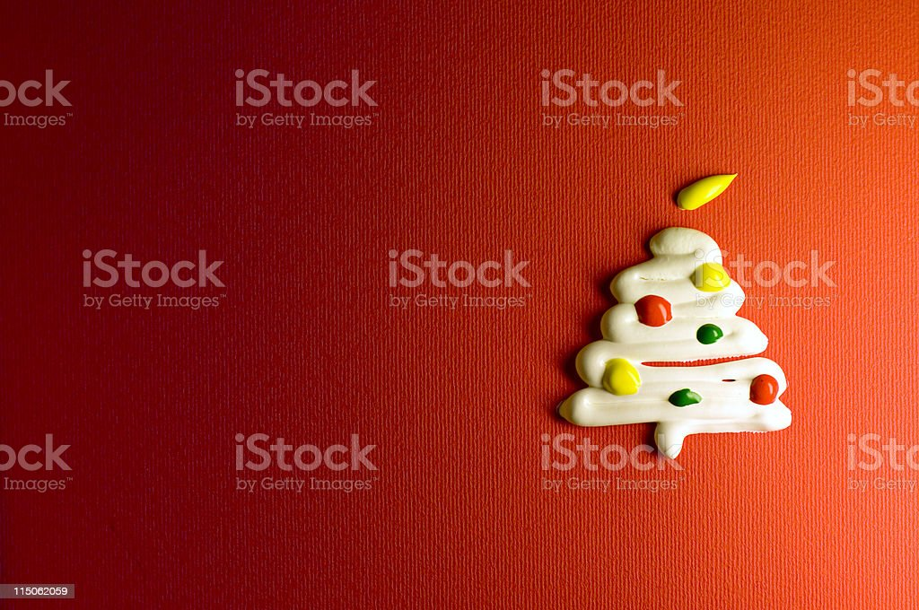 Cream Christmas Tree royalty-free stock photo