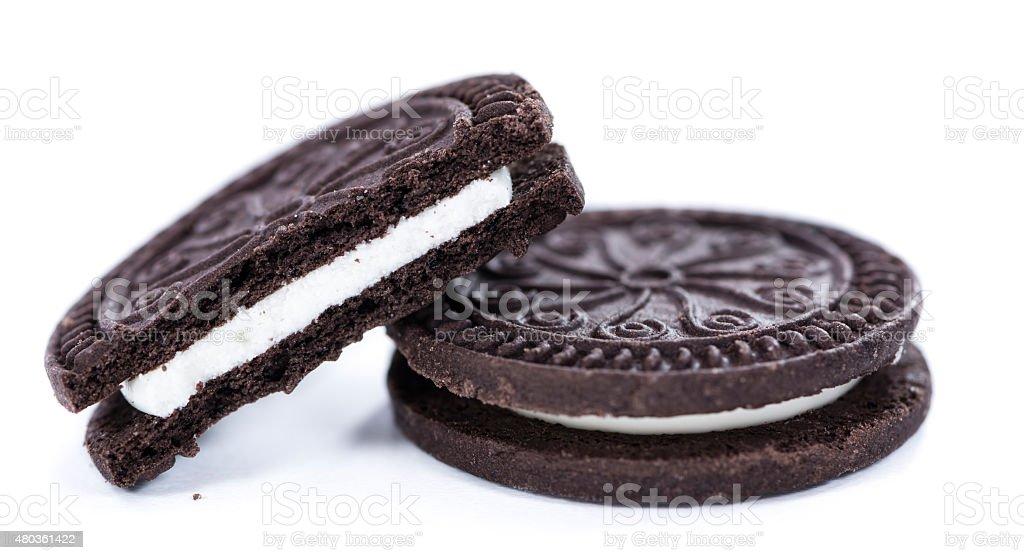 Cream Cookies isolated on white stock photo