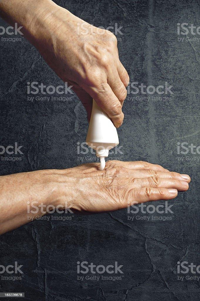 Cream for hands stock photo