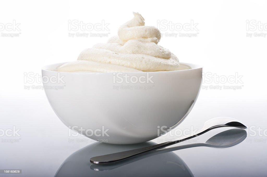 Cream hill stock photo