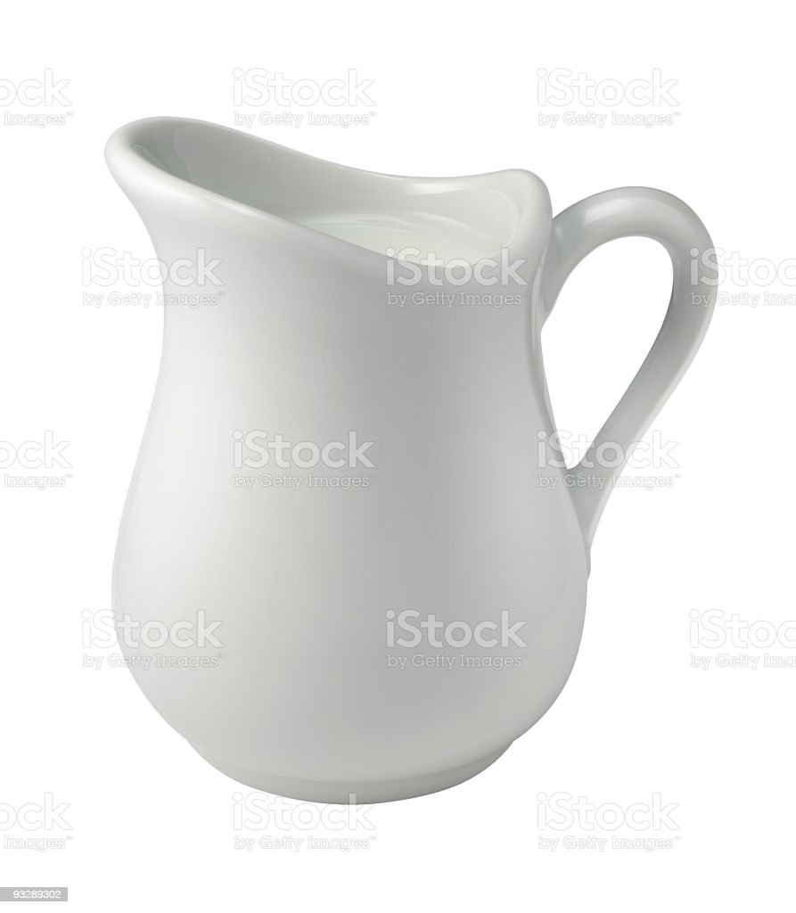 Cream in a Creamer with a clipping path stock photo