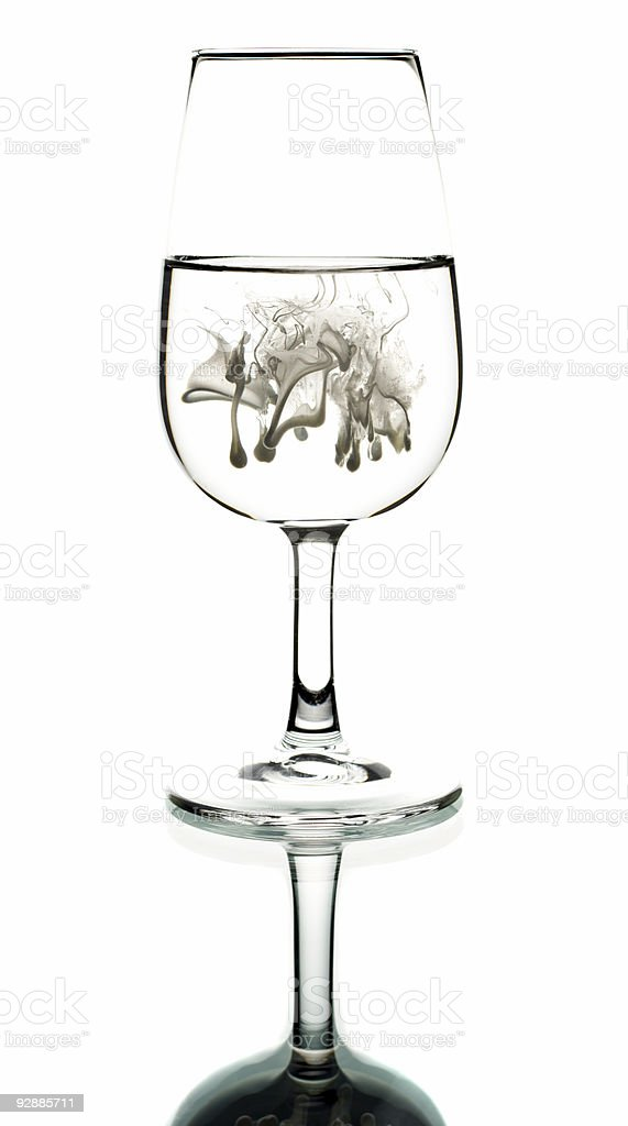 Cream in glass royalty-free stock photo