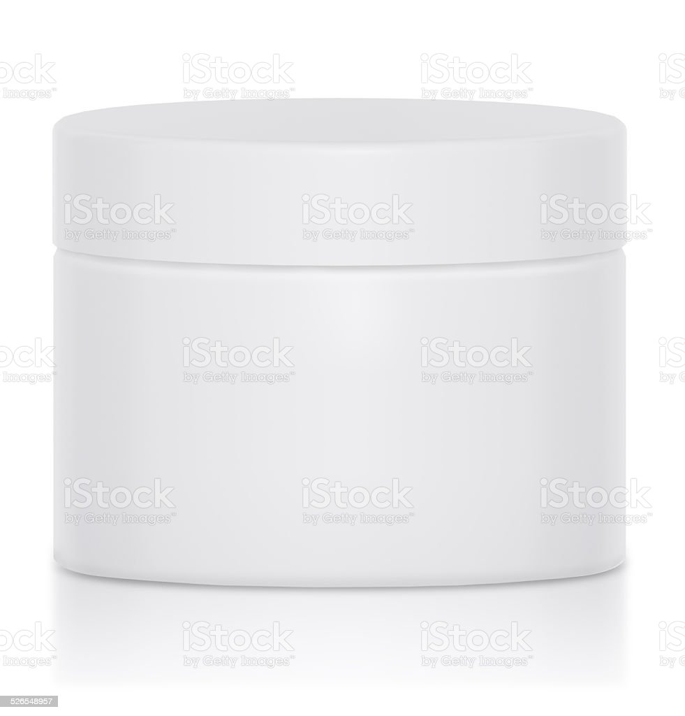 Cream Jar Blank Logo stock photo