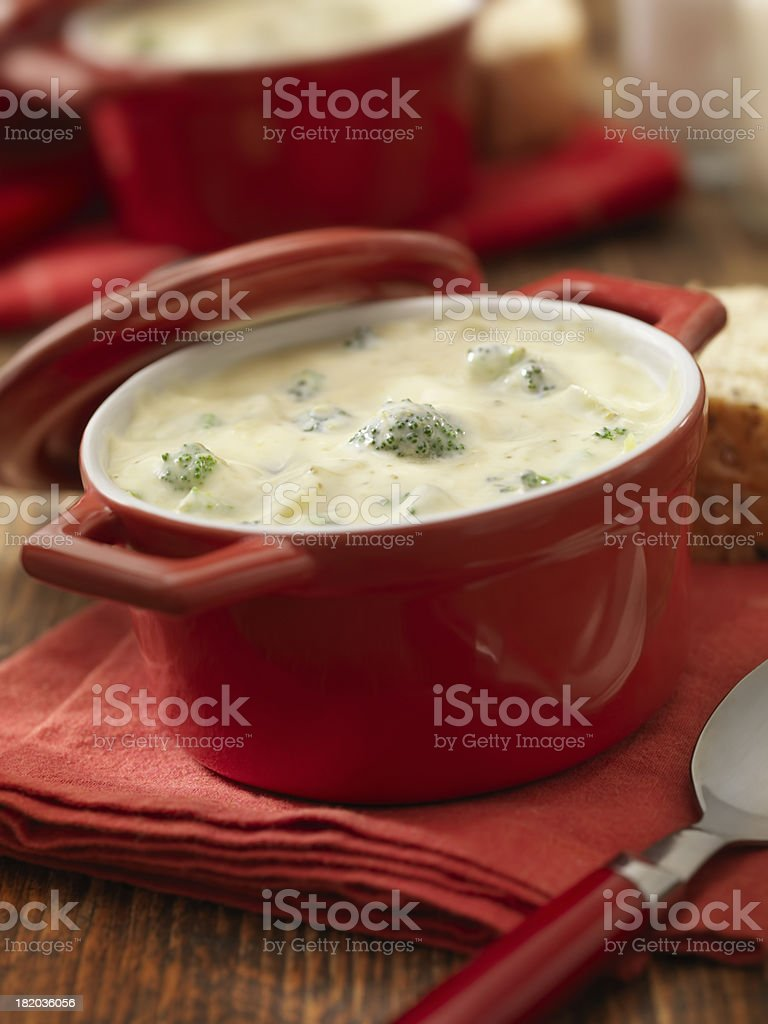 Cream of Broccoli Soup royalty-free stock photo
