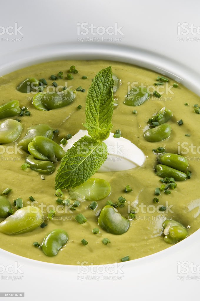 Cream of fava beans royalty-free stock photo