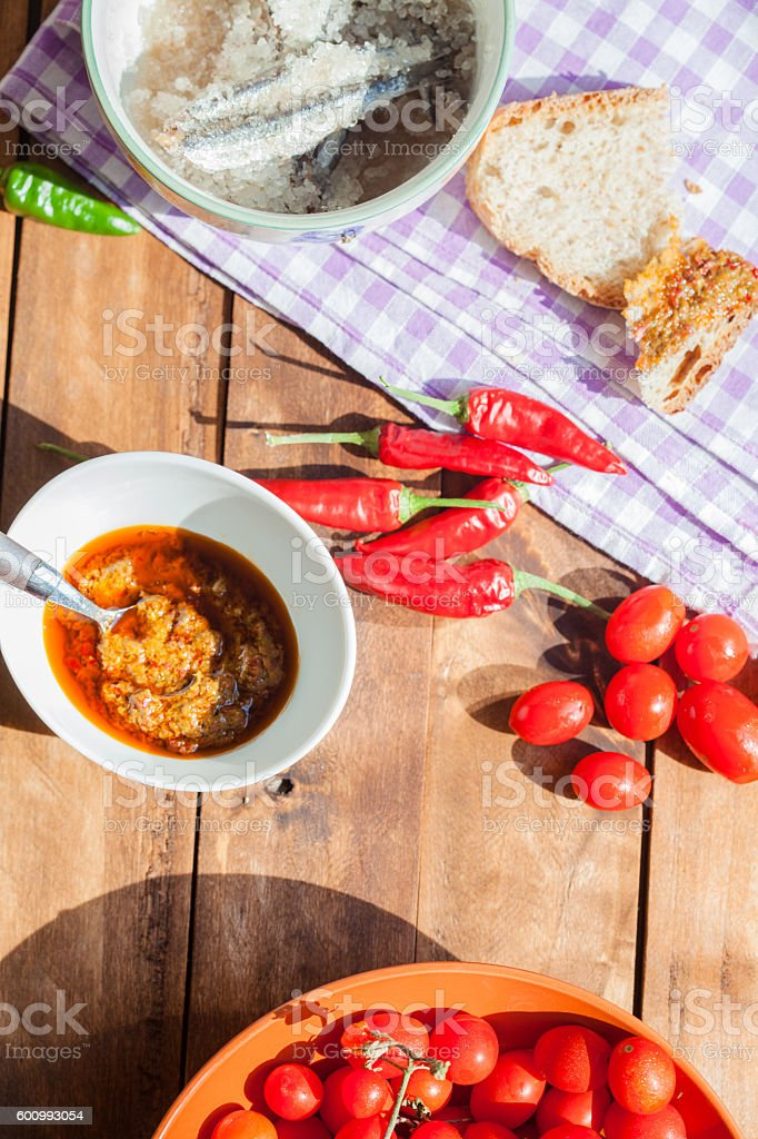 Cream of Hot Chili Peppers stock photo