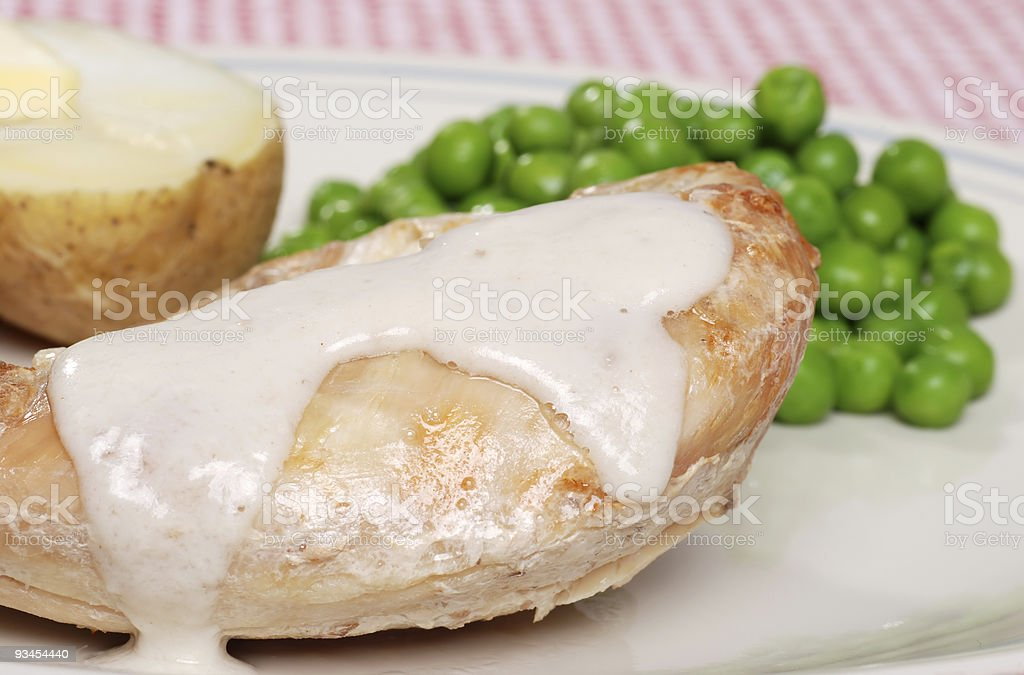 cream of mushroom baked chicken royalty-free stock photo
