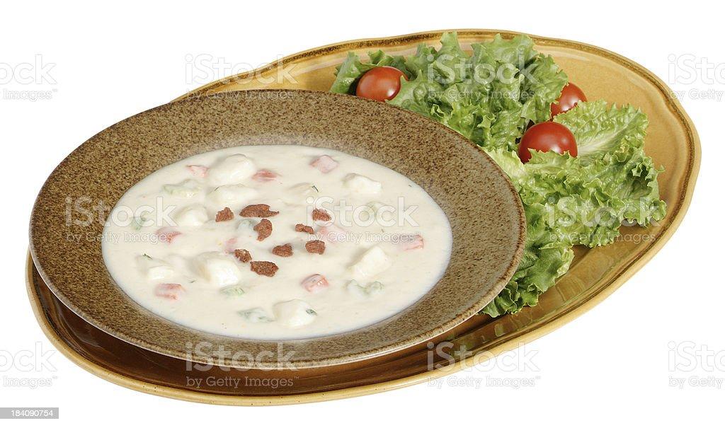 Cream of Potato Soup royalty-free stock photo