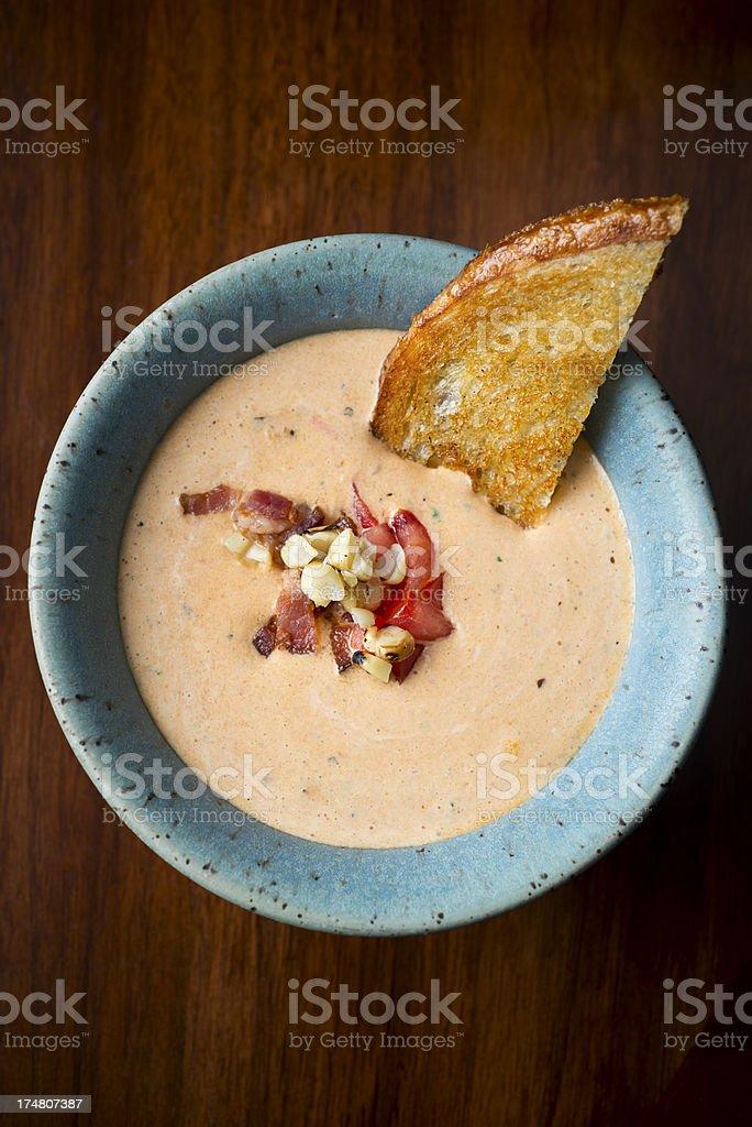 Cream of Tomato Soup royalty-free stock photo
