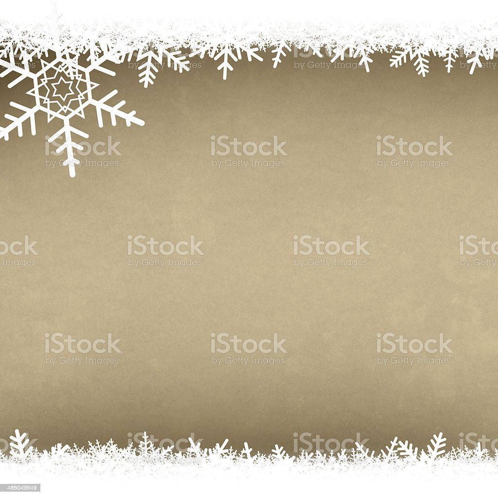 Cream Parchment Abstract Christmas Winter Snowflake Background w royalty-free stock photo