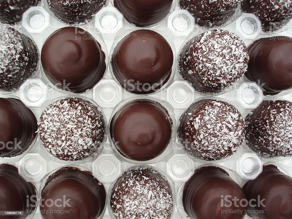Cream puff in a box royalty-free stock photo