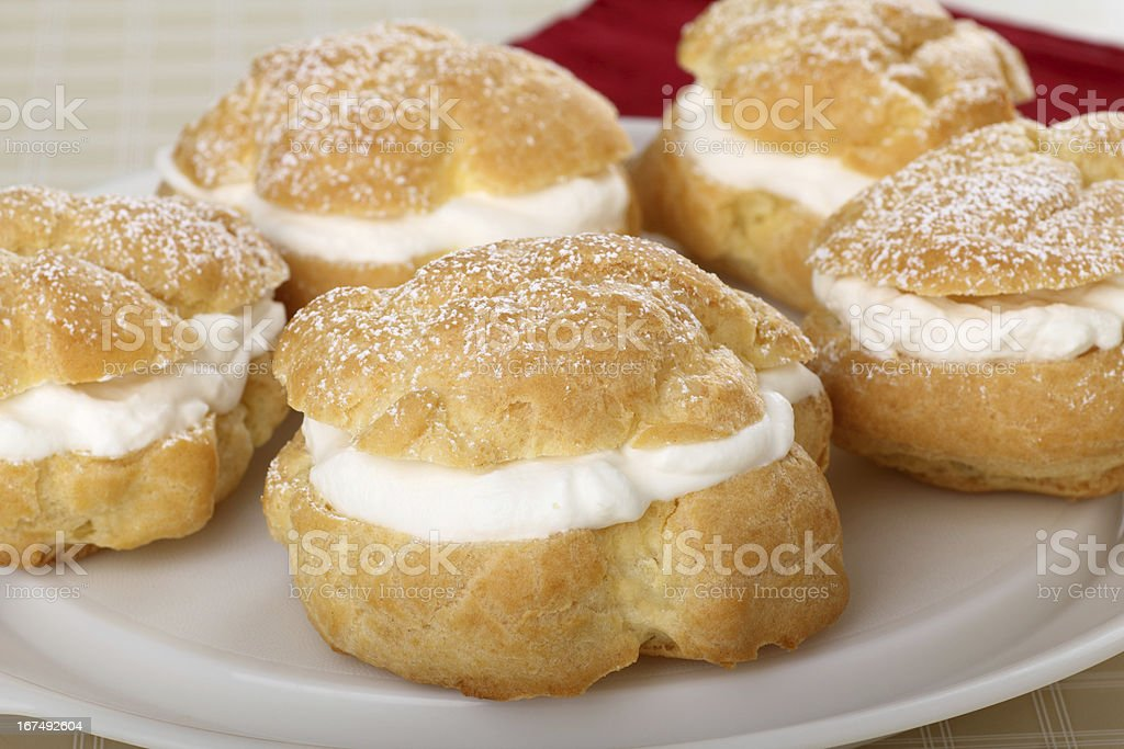 Cream Puff Pastry royalty-free stock photo