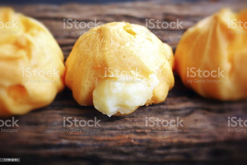 Cream puffs royalty-free stock photo