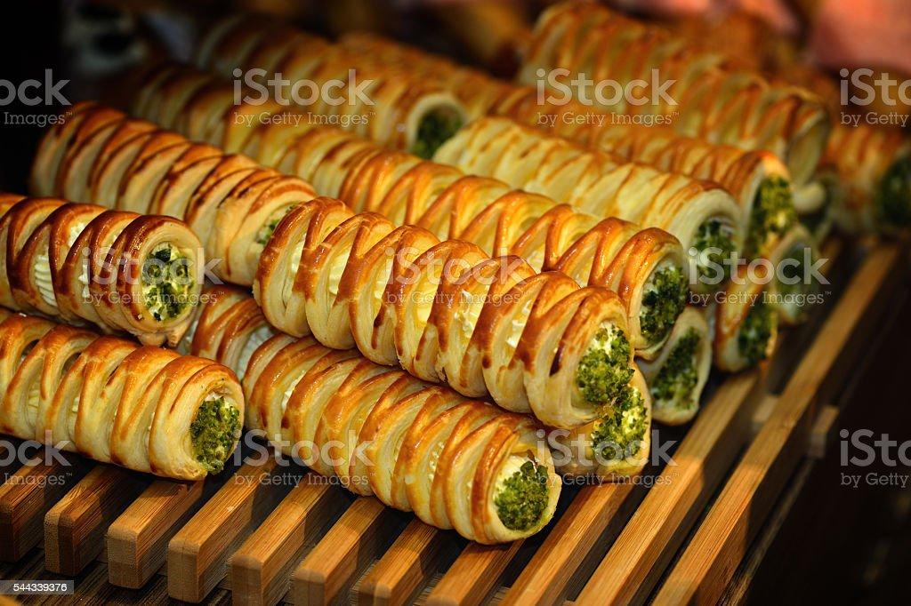 Cream Roll Bread stock photo