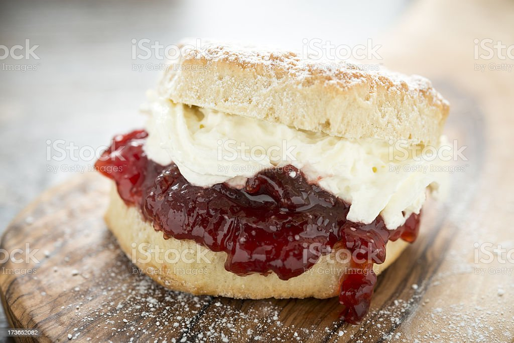 Cream Scone stock photo
