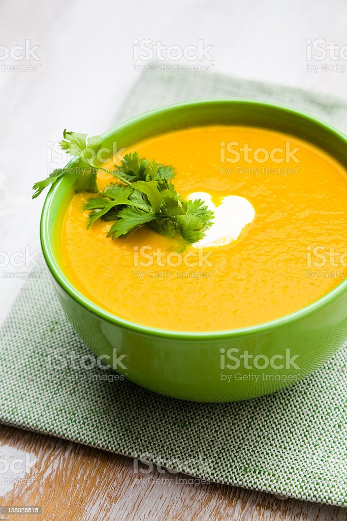 Cream soup stock photo