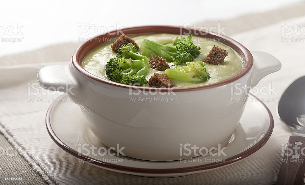 Cream soup royalty-free stock photo