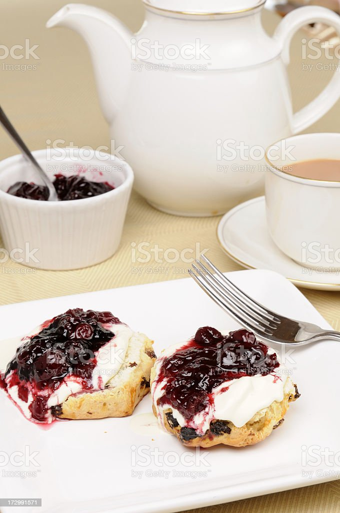 Cream Tea royalty-free stock photo